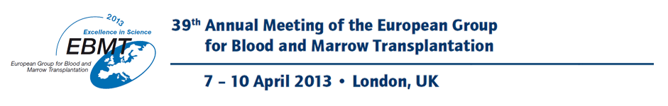 39th Meeting of the European Group for Blood and Marrow Transplantation - 7 - 10 April 2013, London, UK